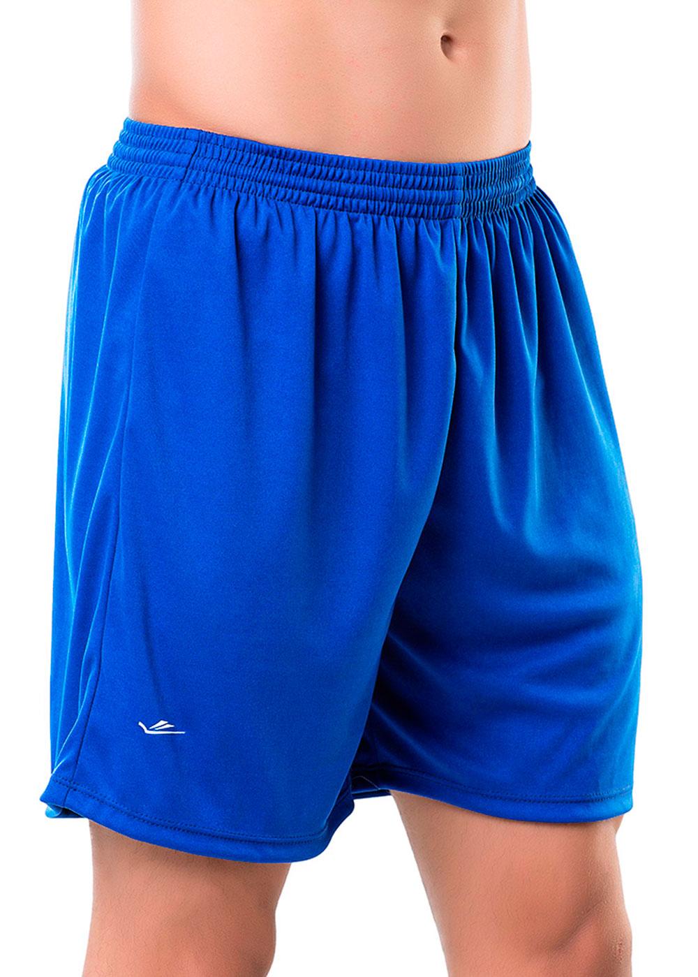 Calção Masculino Adulto Azul Royal para Exercício/Futebol/Academia - Elite