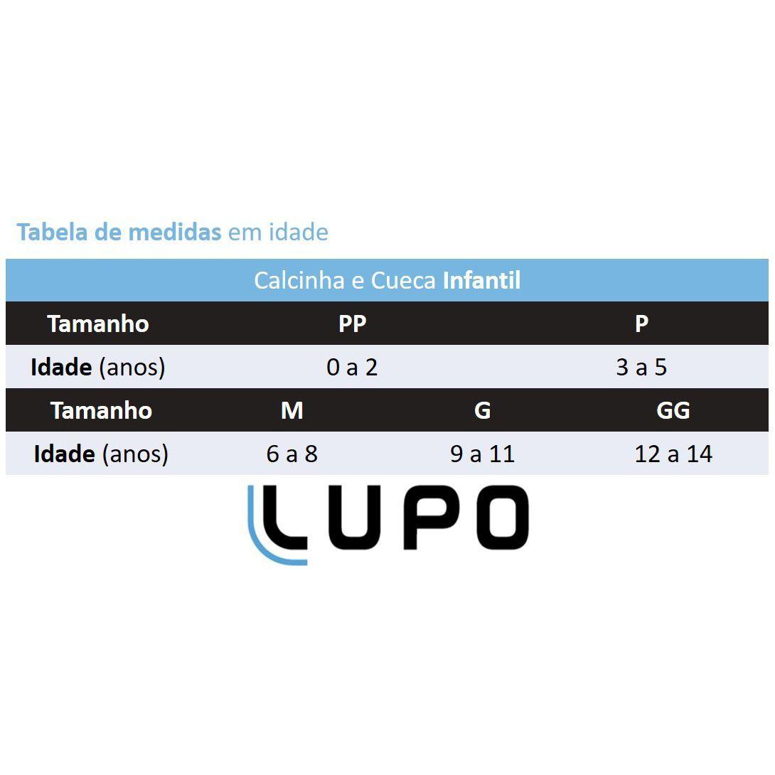 Calcinha Infantil Kit 10 238 Lupo