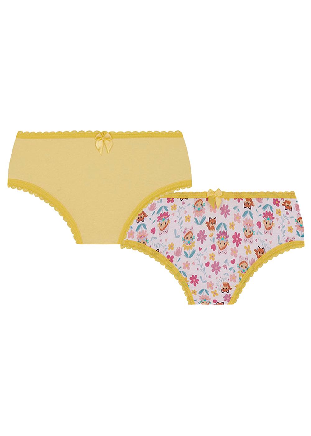 Calcinha Infantil Kit 12 Sortida Lupo