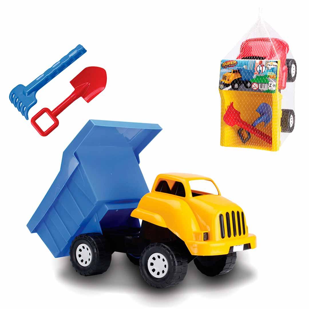 Caminhão Caçamba Infantil com Pá e Rastelo - Marbel: Tabela de medidas