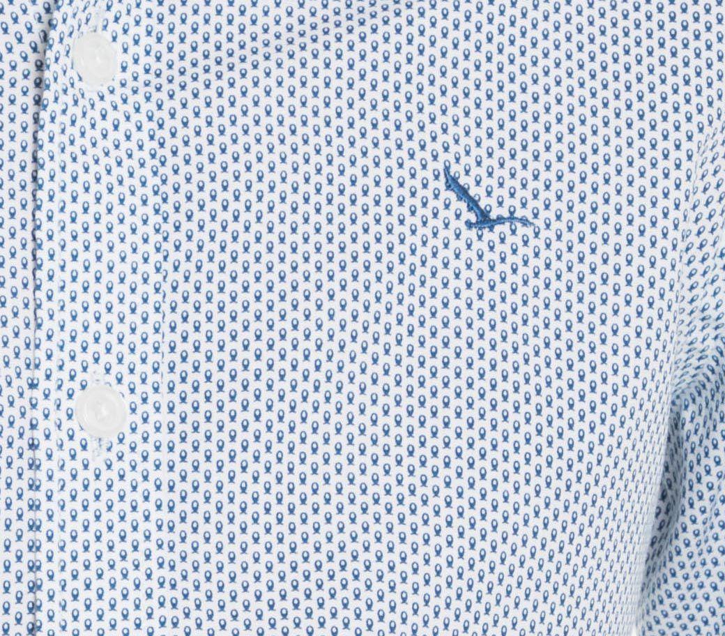 Camisa Infantil Manga Longa Branca Peixe Slim YachtMaster: Tabela de medidas