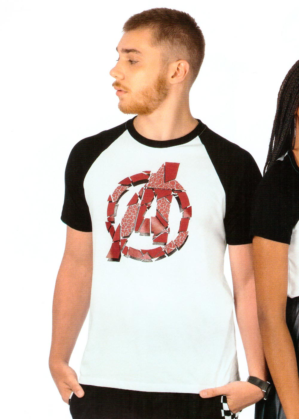 Camiseta Adulto Masculina Verão Branca Avengers Cativa
