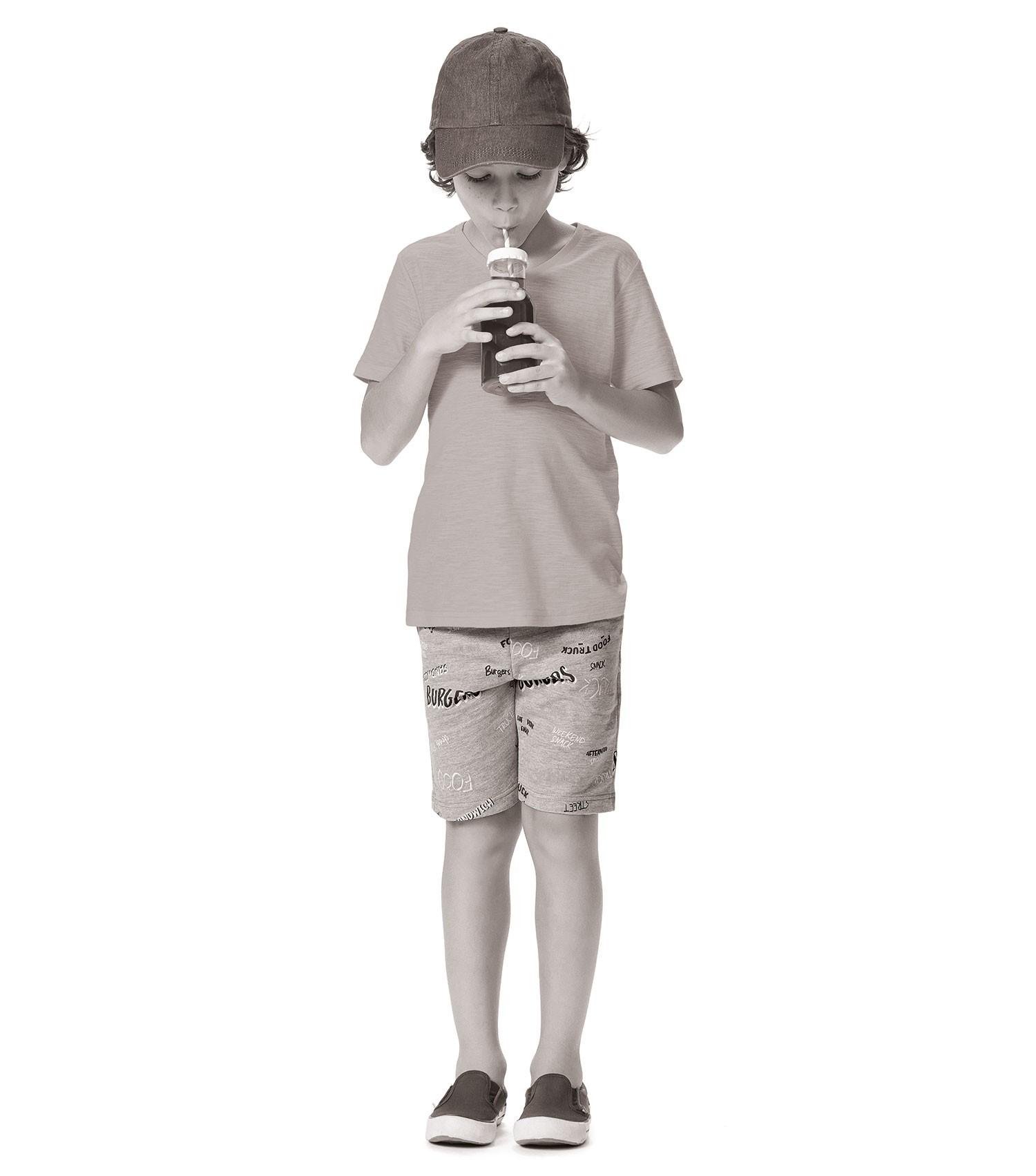 Camiseta Infantil Branca Malwee