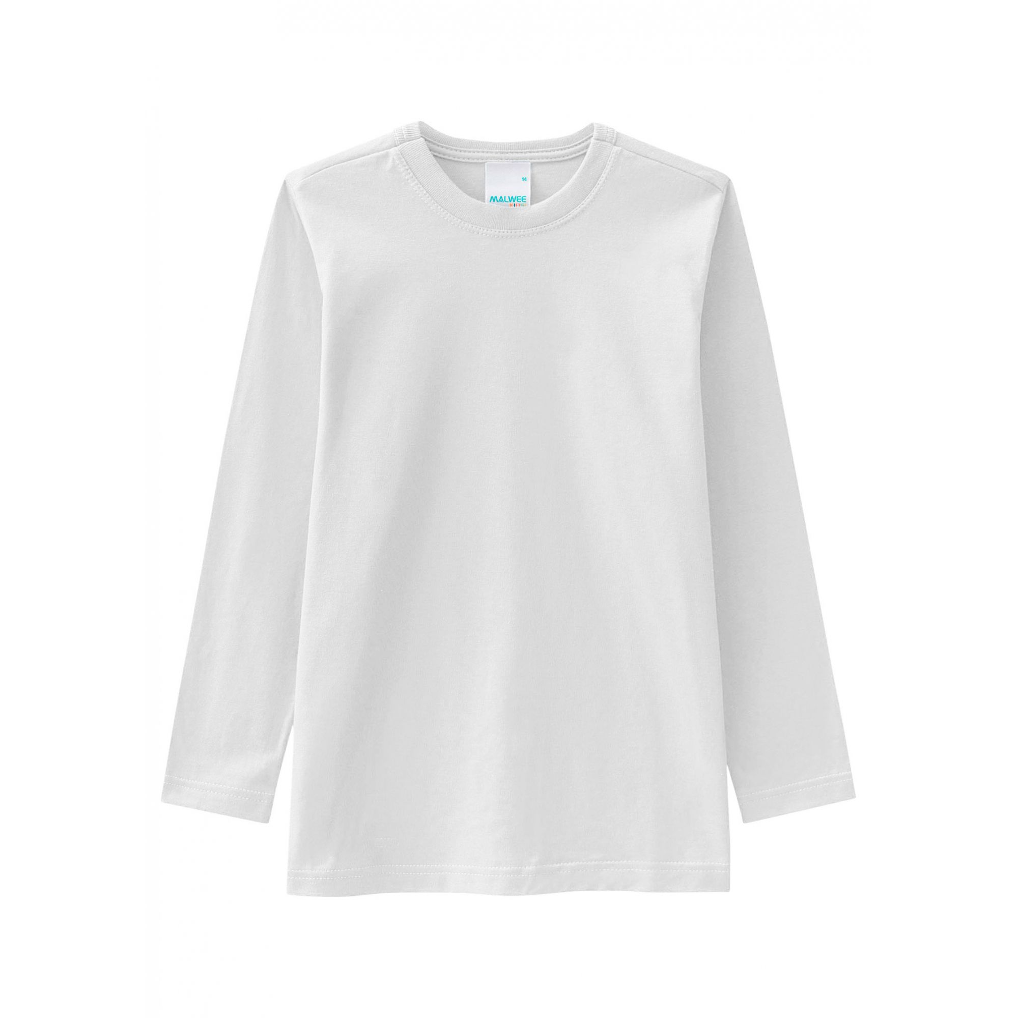 Camiseta Infantil Masculina Inverno Branca Malwee