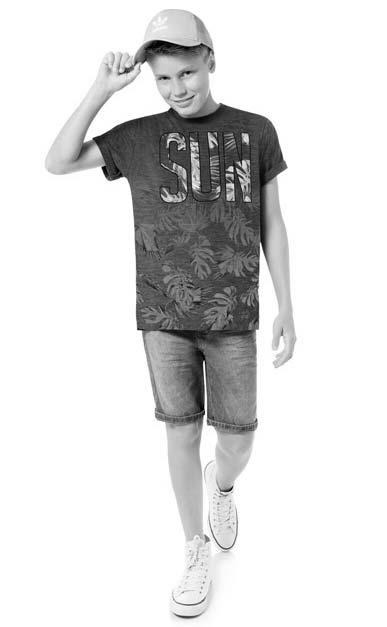 Camiseta Infantil Masculina Verão Azul Sun Lemon