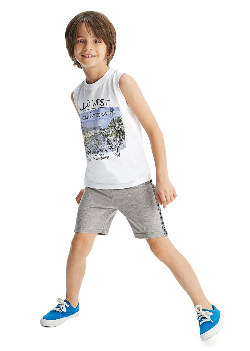 Camiseta Infantil Masculina Verão Branca West Malwee