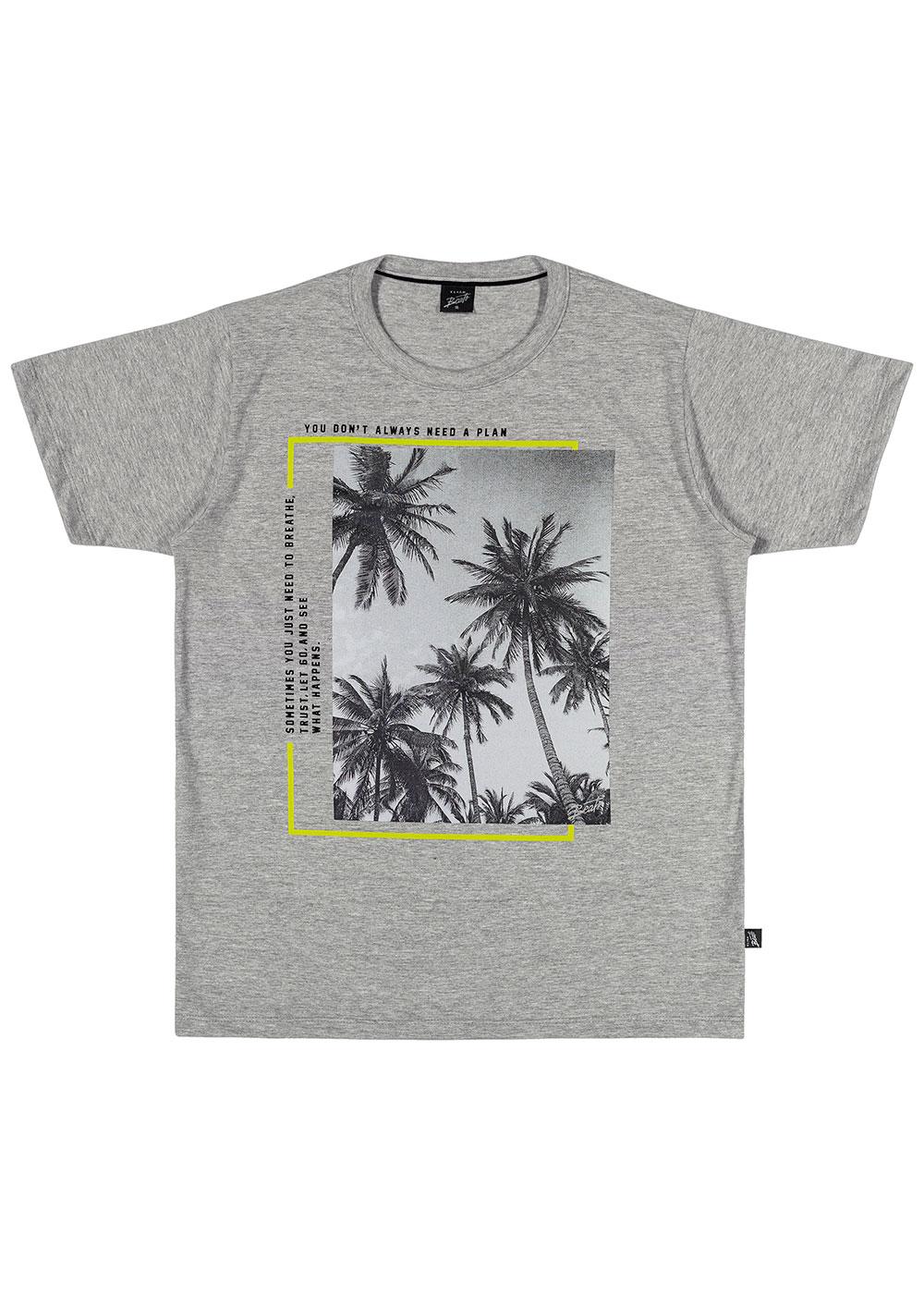 Camiseta Infantil Masculina Verão Cinza Always Elian