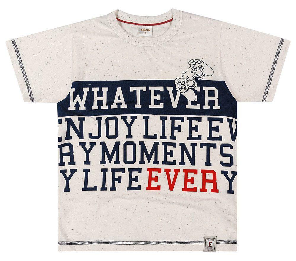 Camiseta Infantil Masculina Verão Mescla Whatever Elian