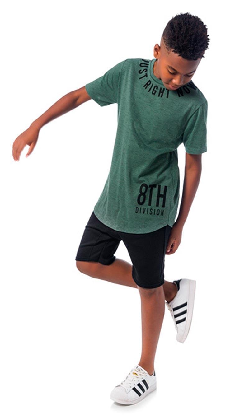 Camiseta Infantil Masculina Verão Verde Just Lemon
