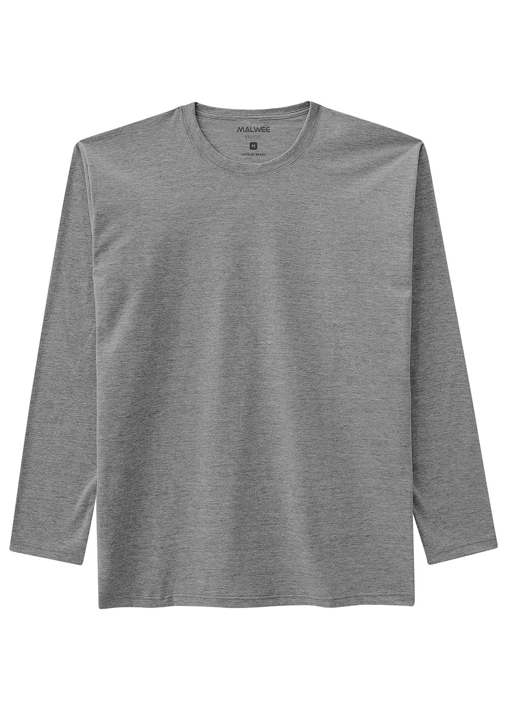 Camiseta Masculina ADULTO Inverno Cinza Malwee