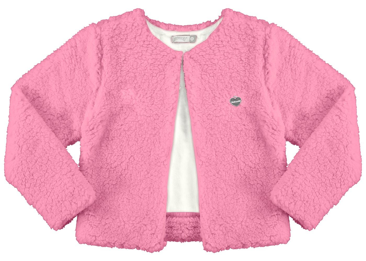 Casaco Infantil Feminino Inverno Rosa Pelo Alakazoo