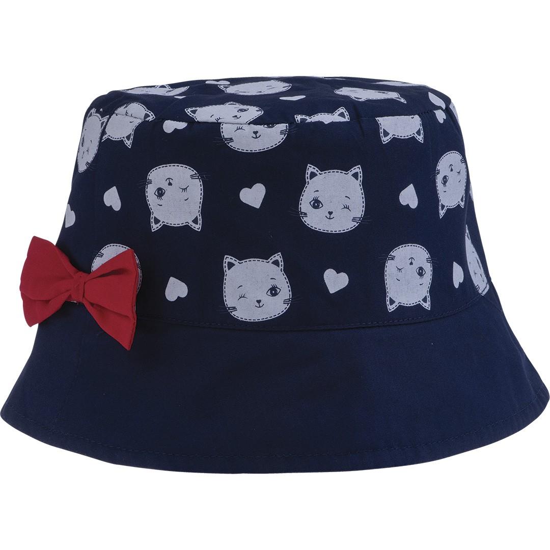 Chapéu Infantil para Meninas Azul Pimpolho