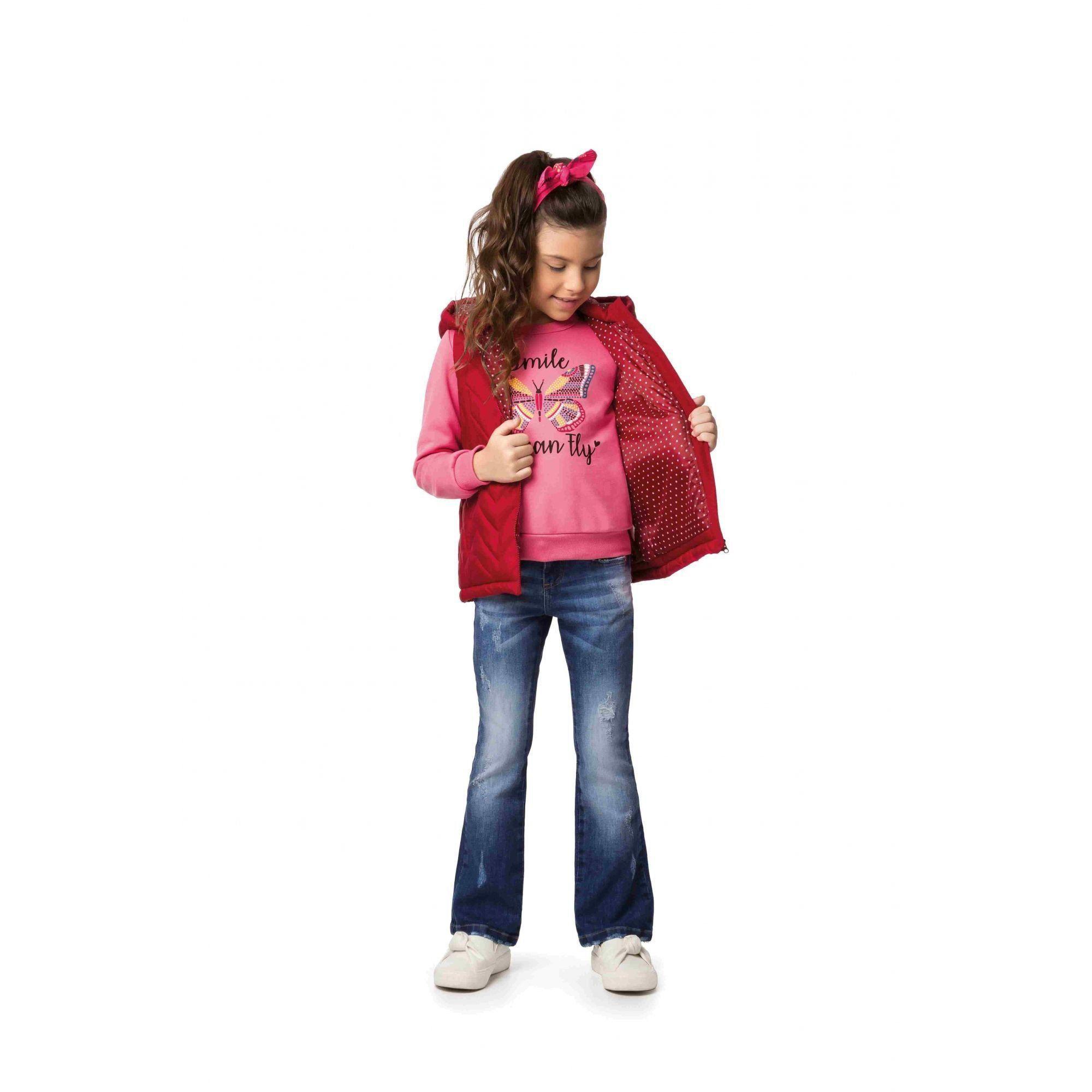 Colete Feminino Infantil Inverno Rosa  Malwee