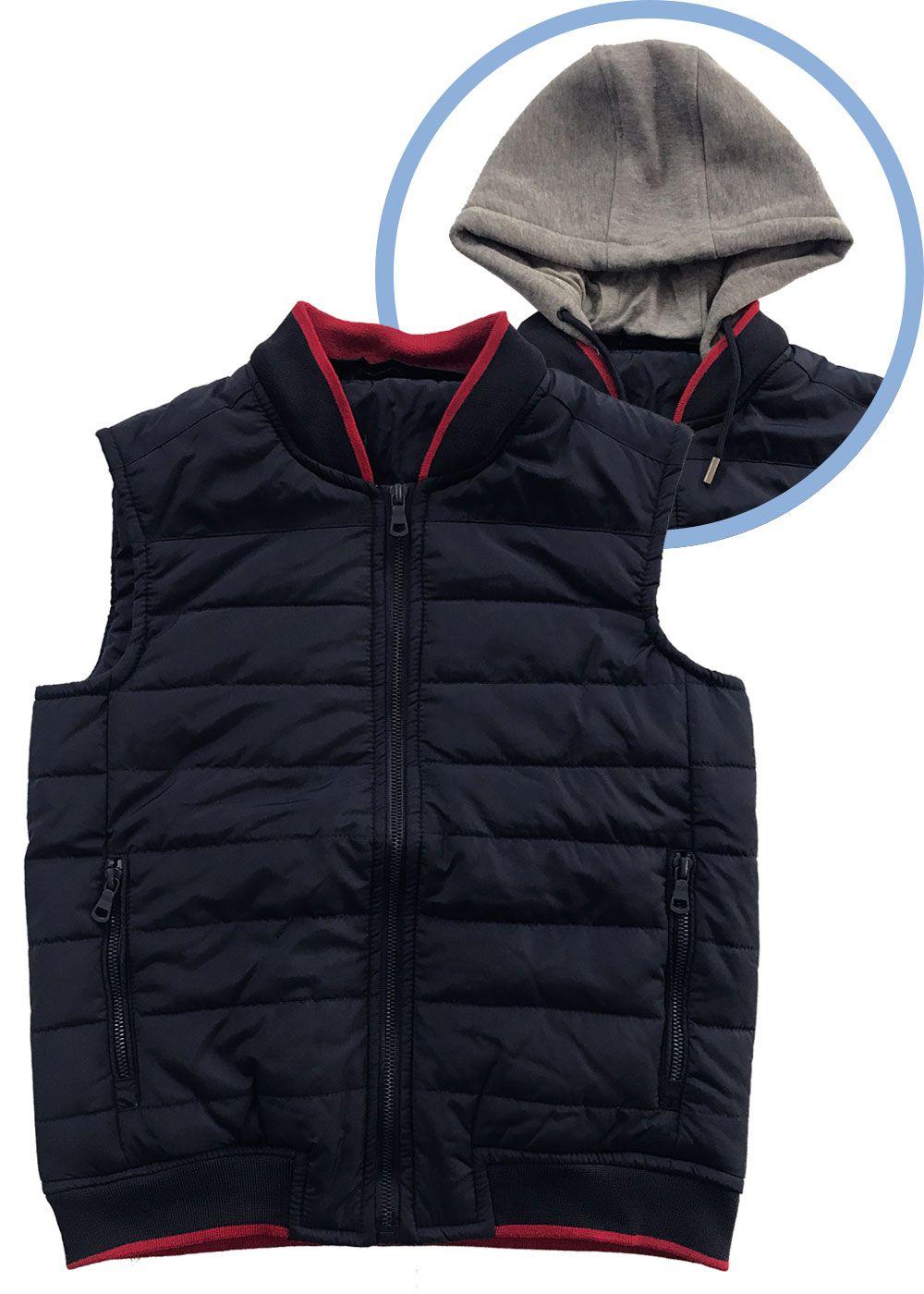 Colete Infantil Masculino Inverno Azul Yacht Master