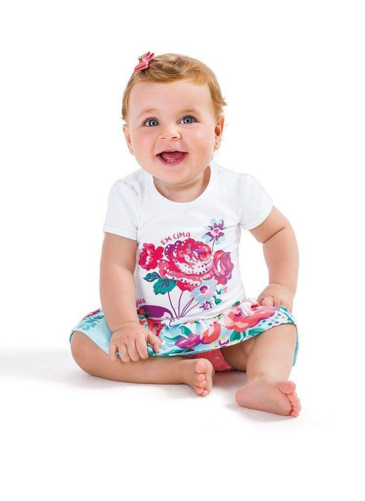 Conjunto Infantil Feminino Azul Menina Zig Zig Zaa