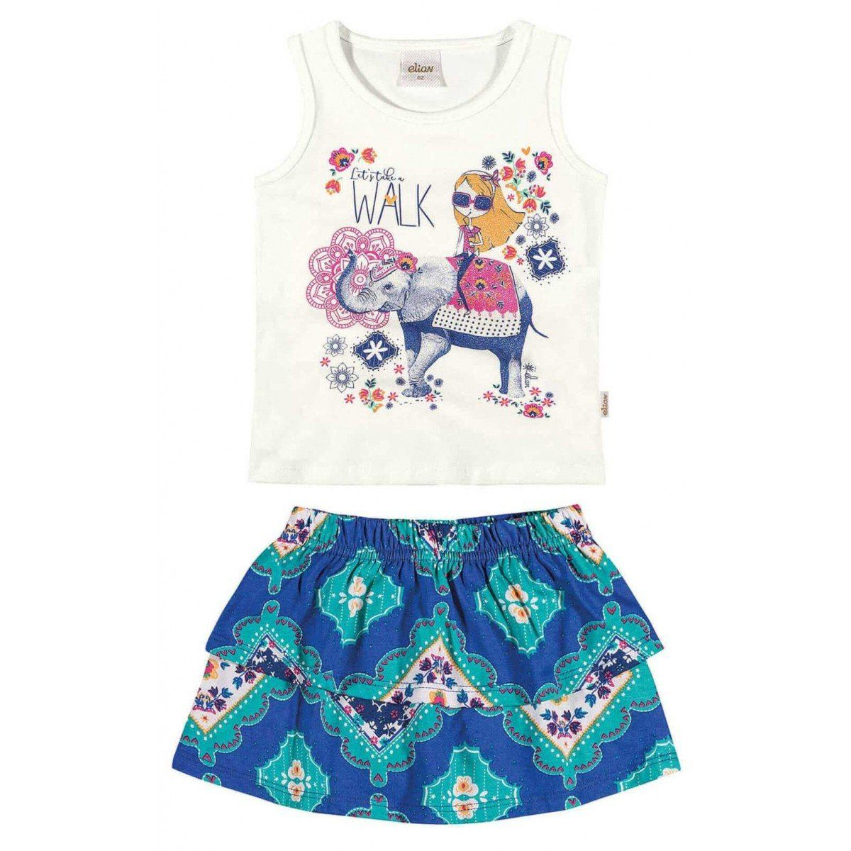 Conjunto Infantil Feminino Azul Walk Elian
