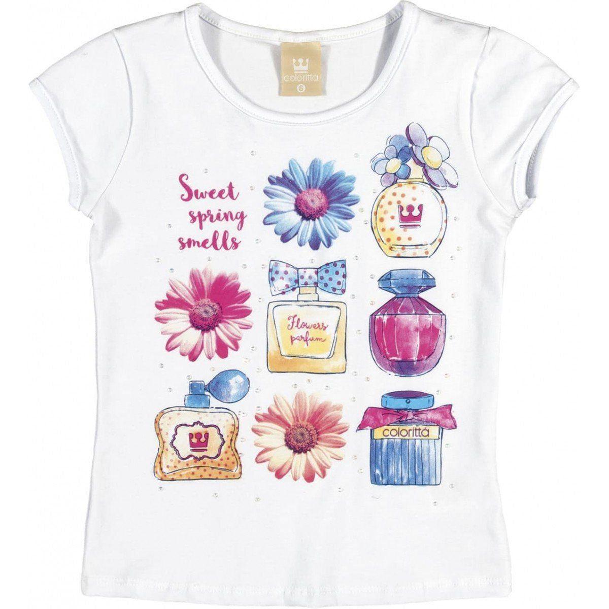 Conjunto Infantil Feminino Branco Perfumes Colorittá