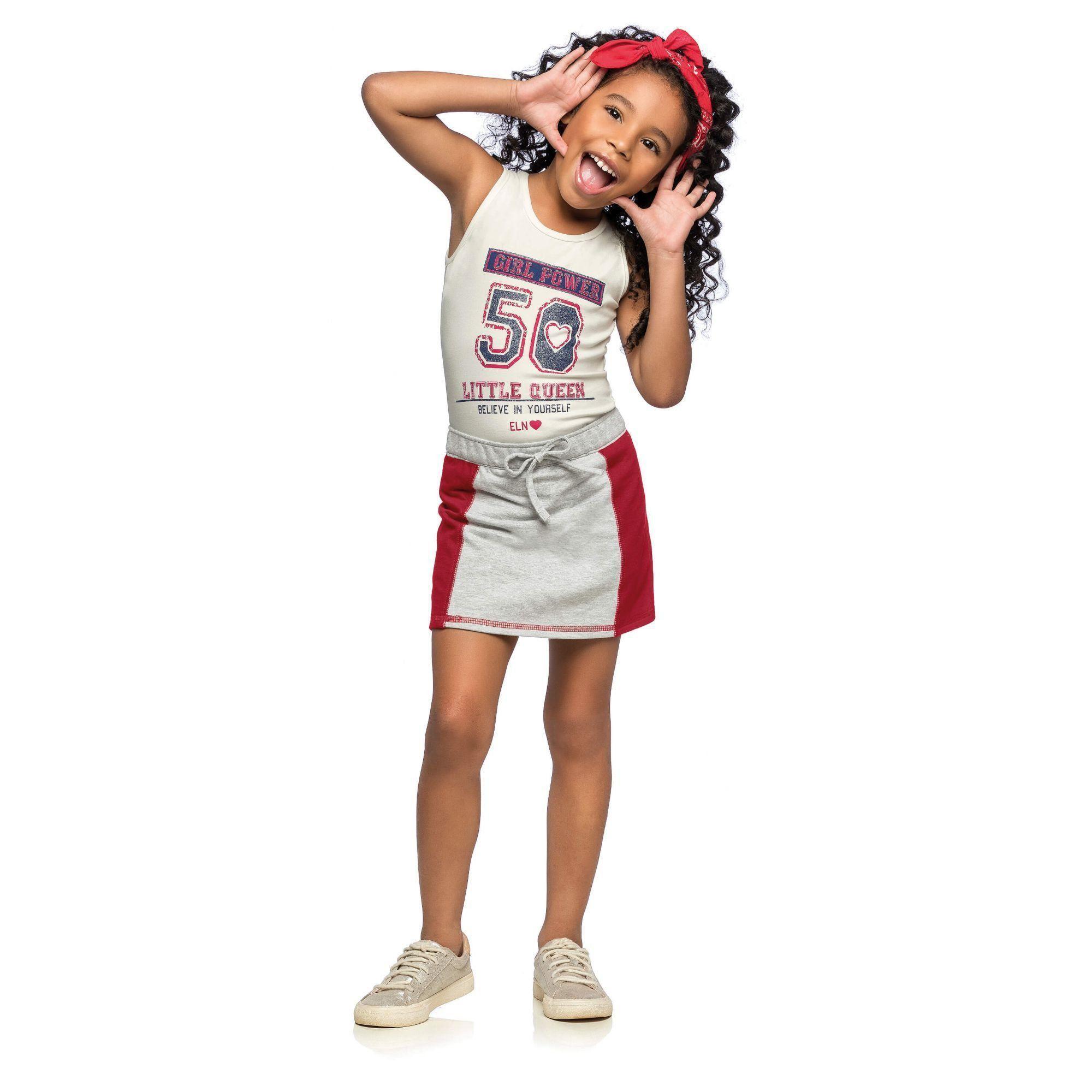Conjunto Infantil Feminino OffWhite Girl Elian