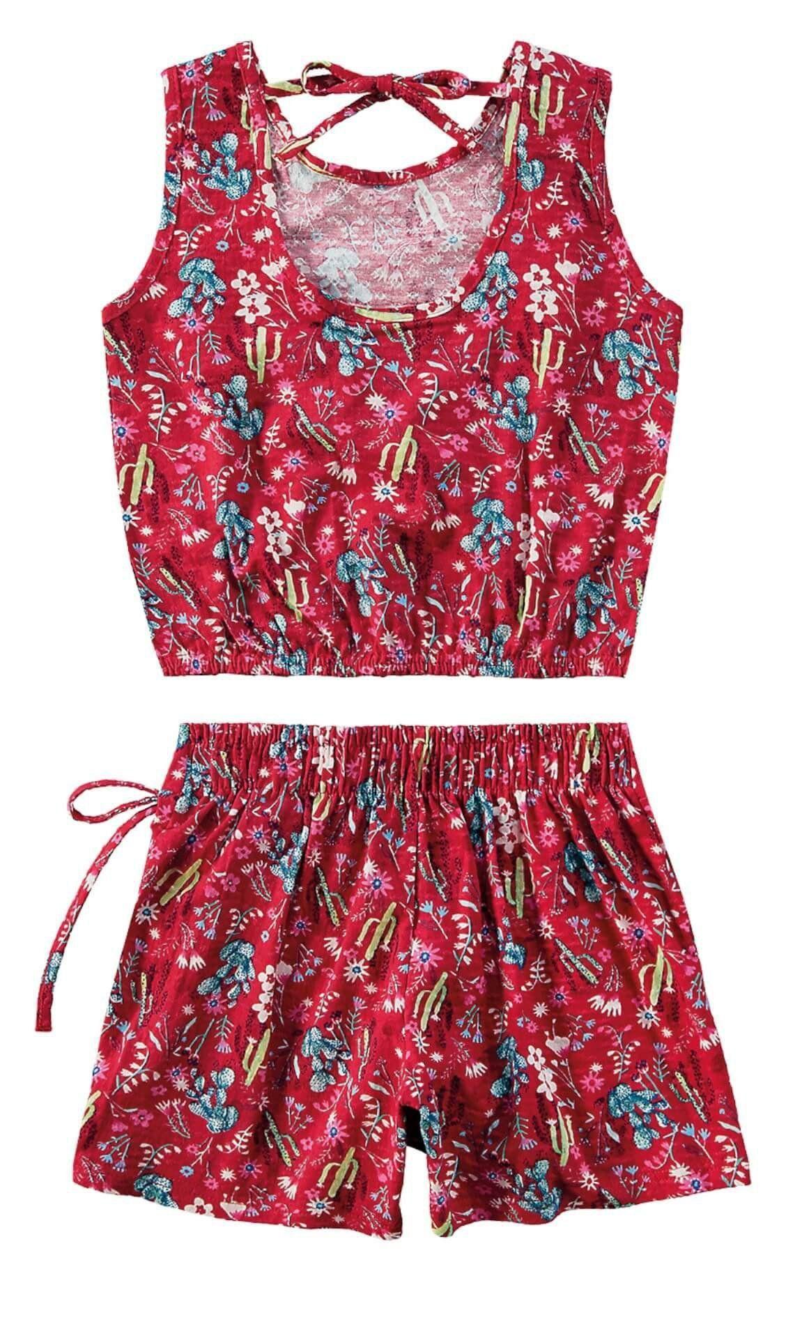 Conjunto Infantil Feminino Rosa Cactus Malwee