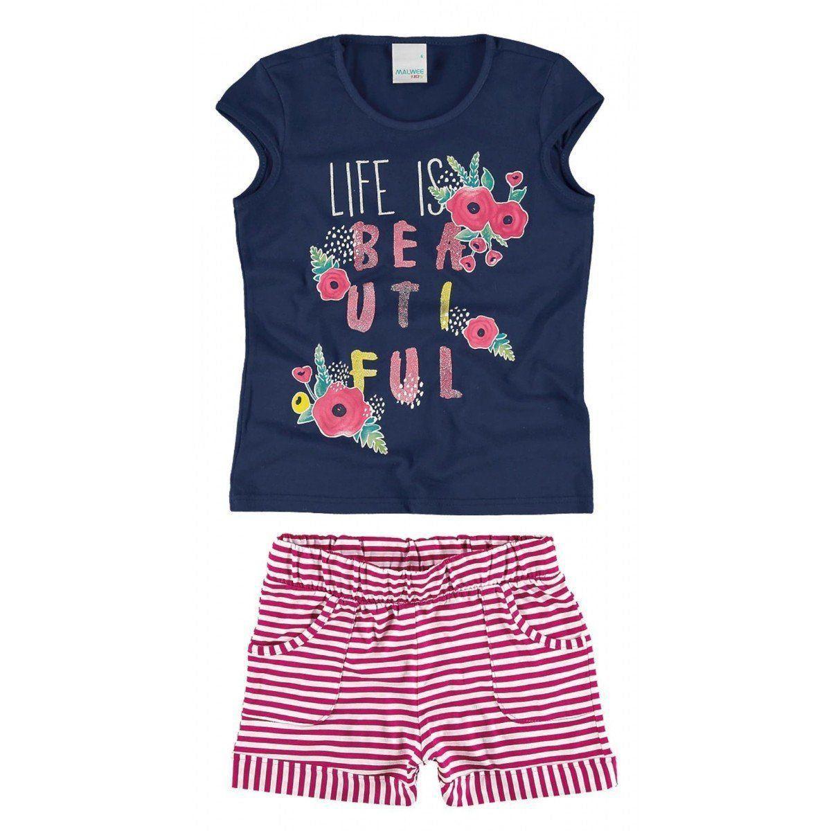 Conjunto Infantil Feminino Life is Beautiful Malwee