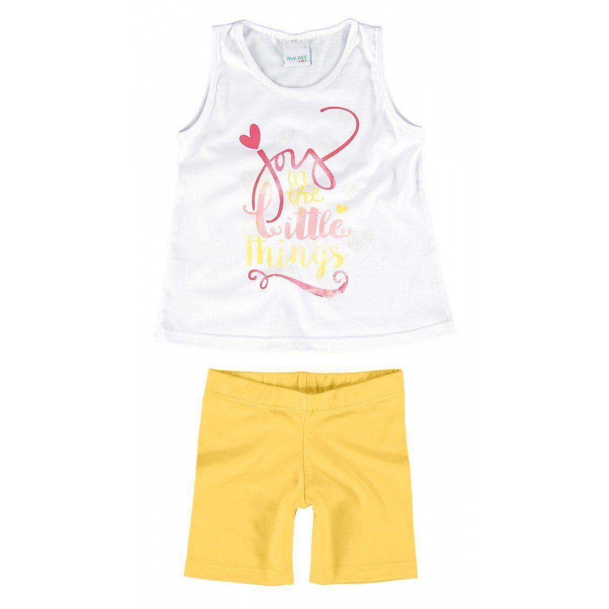 Conjunto Infantil Feminino Branco Little Things Malwee