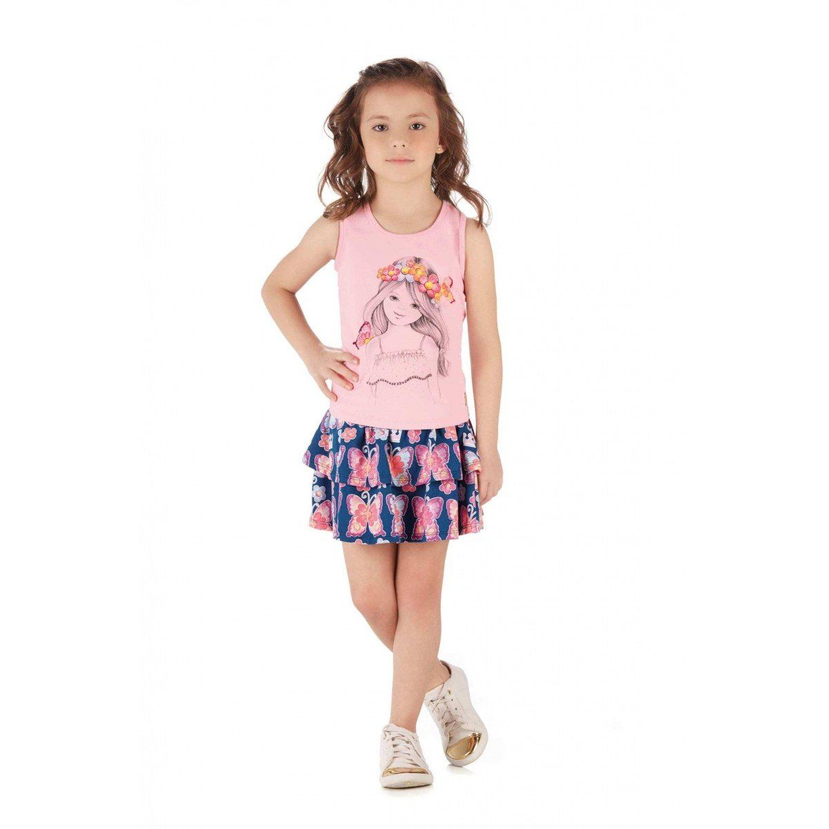 Conjunto Infantil Feminino Rosa Menina Colorittá