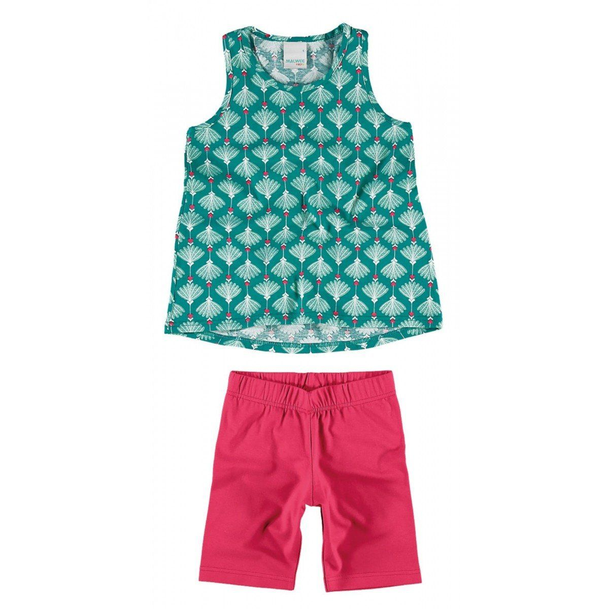 Conjunto Infantil Feminino Verde Água Pétala Malwee