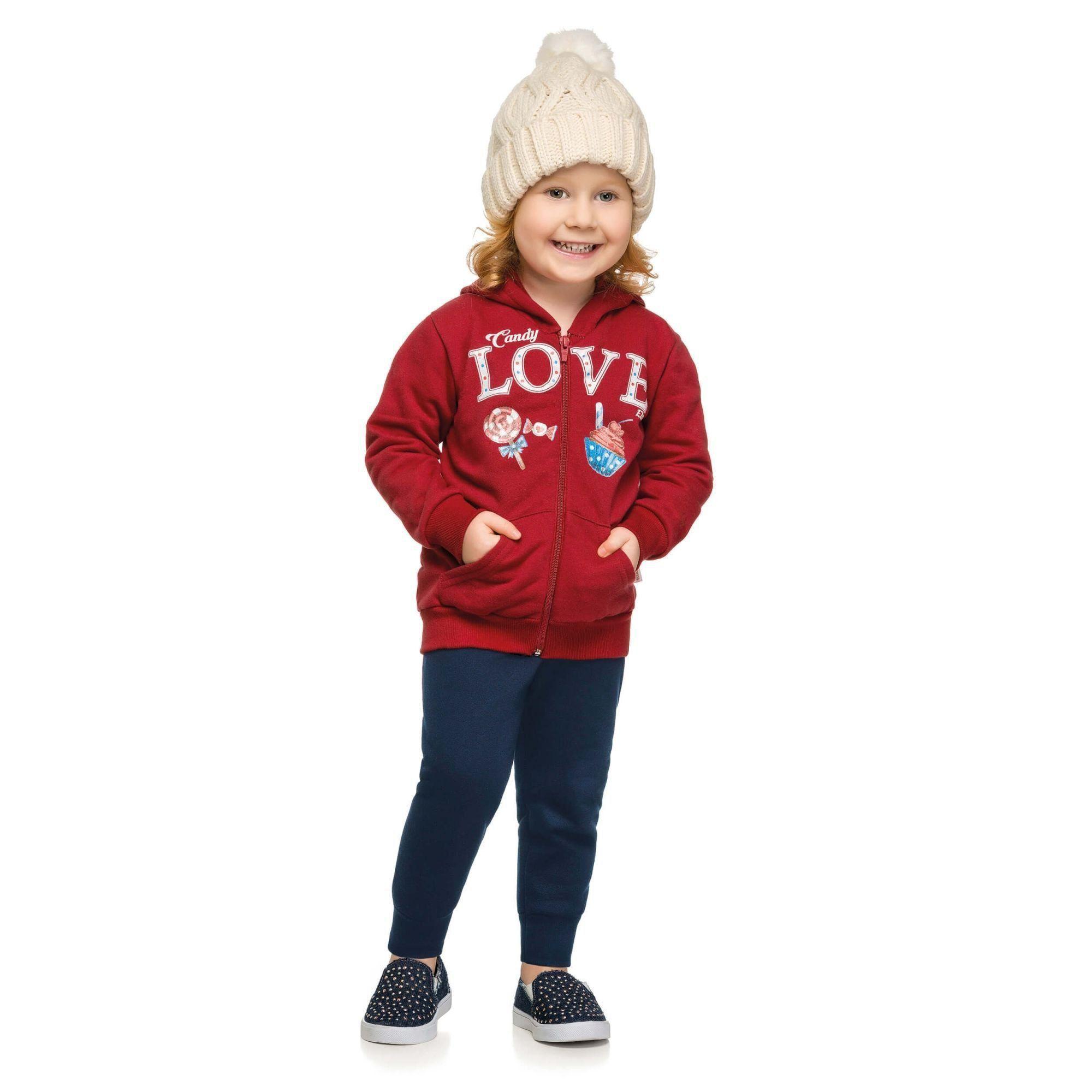 Conjunto Infantil Feminino Inverno Vermelho Love Elian