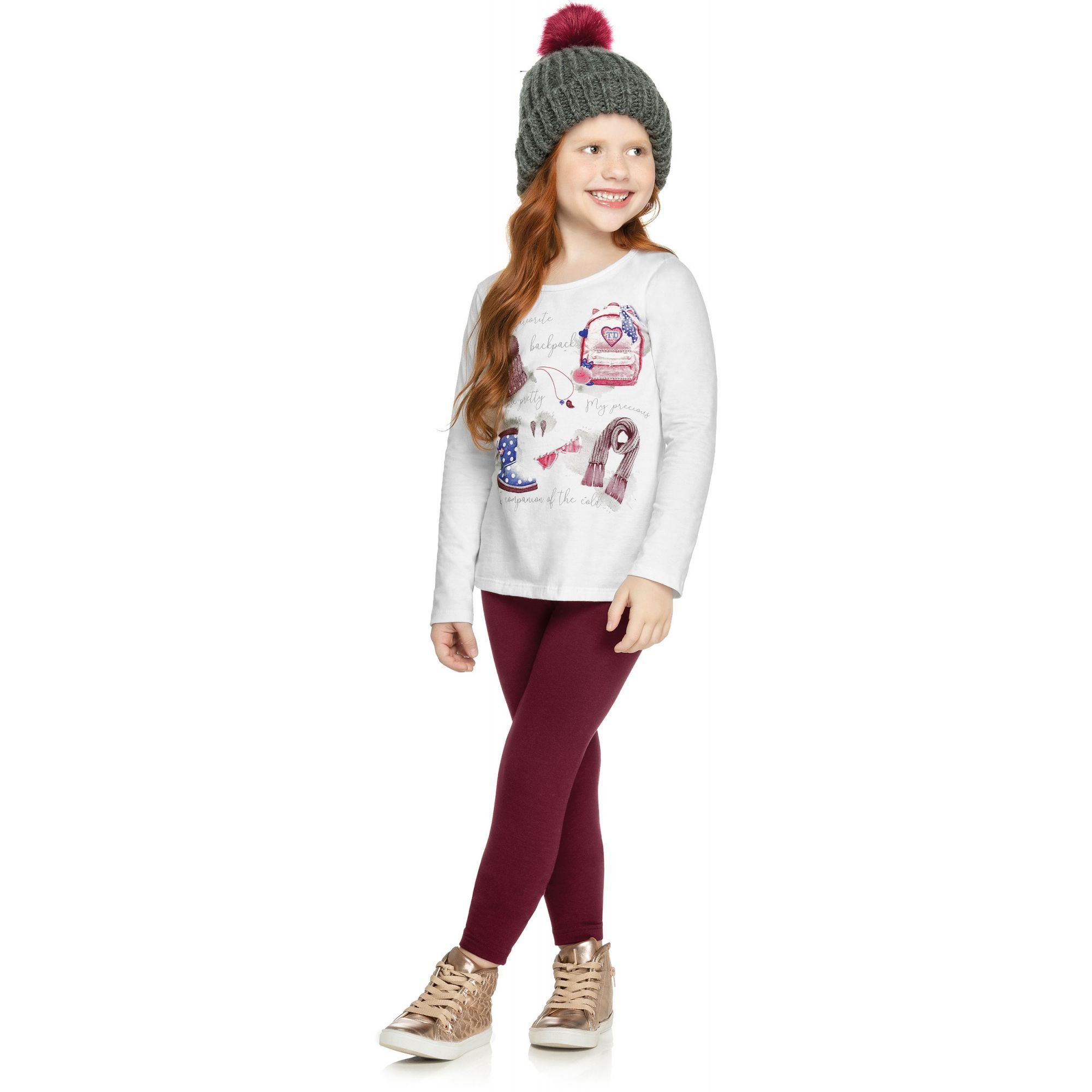 Conjunto Infantil Feminino Inverno Branco My Favorite Elian