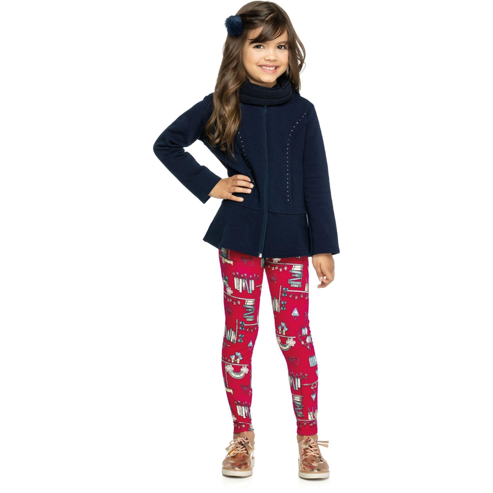 Conjunto Infantil Feminino Inverno Marinho Cute Elian