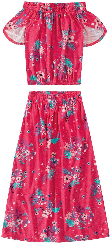 Conjunto Infantil Feminino Rosa Verão Malwee