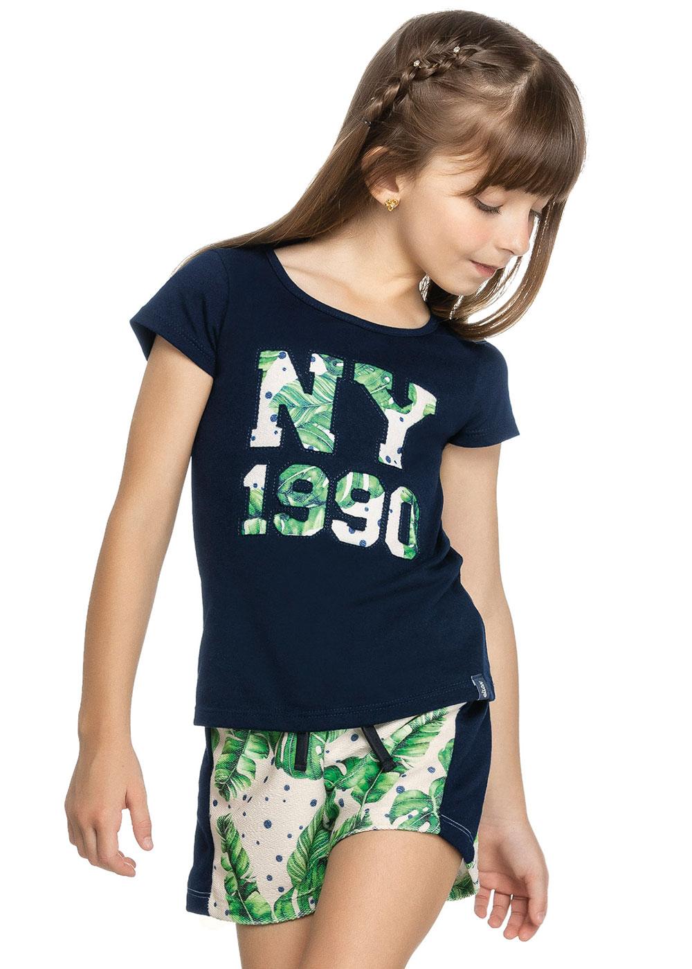 Conjunto Infantil Feminino Verão Azul NY Elian