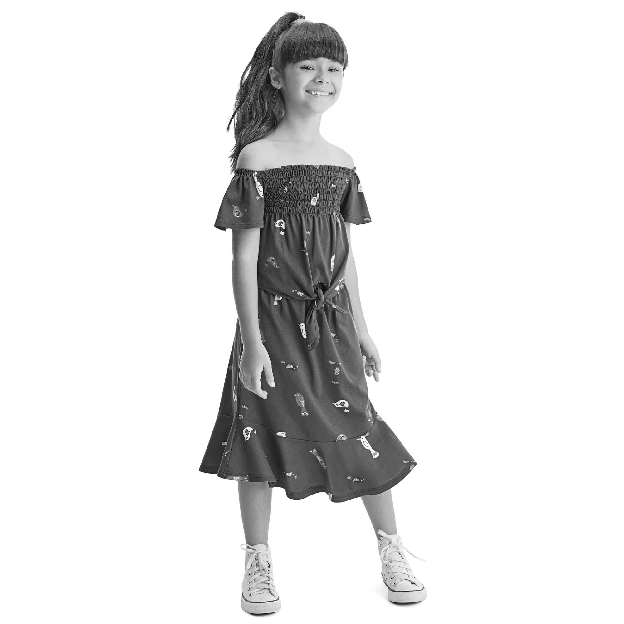Conjunto Infantil Feminino Verão Azul Xadrez Malwee