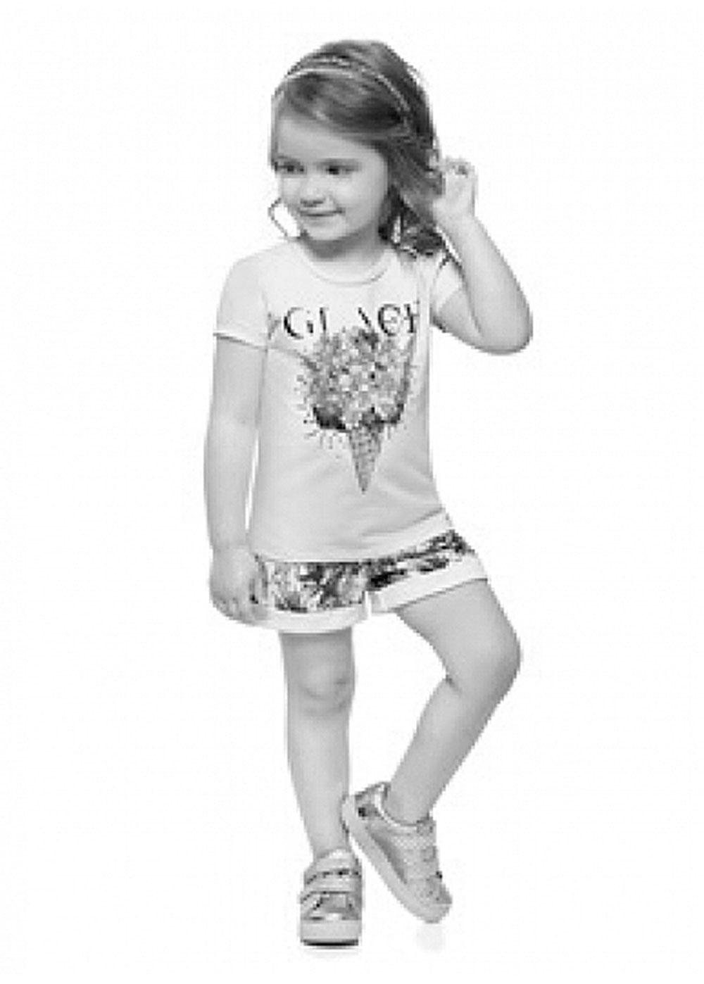 Conjunto Infantil Feminino Verão OffWhite Glace Milon