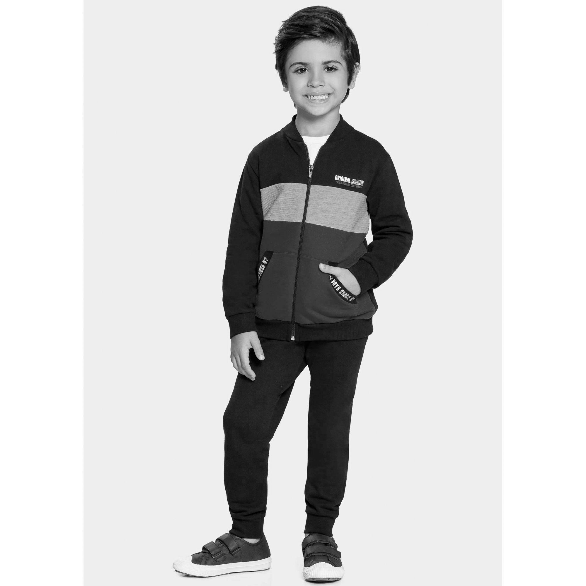 Conjunto Infantil Masculino Inverno Cinza Brand Alakazoo