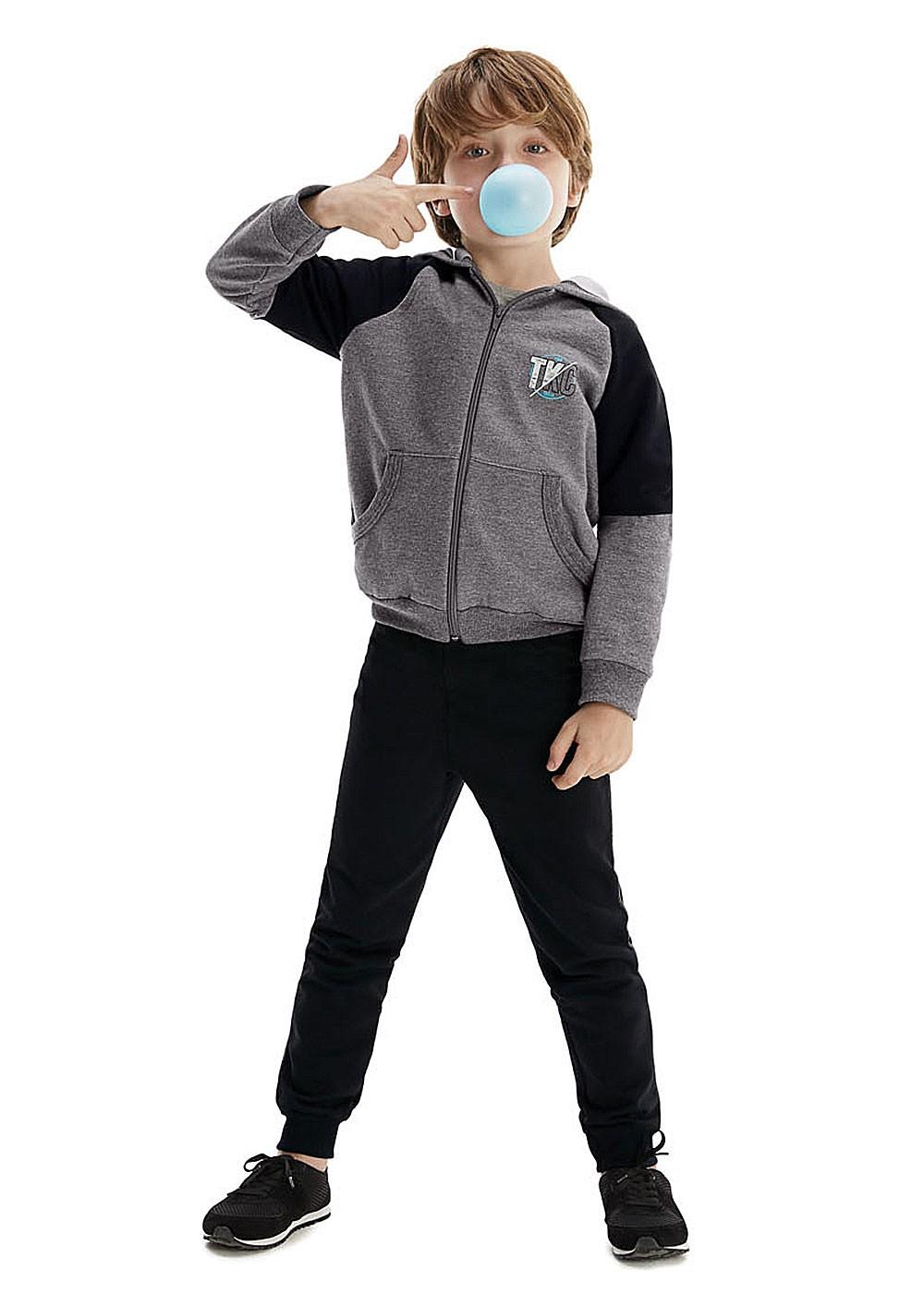 Conjunto Inverno Infantil Masculino Cinza - Malwee