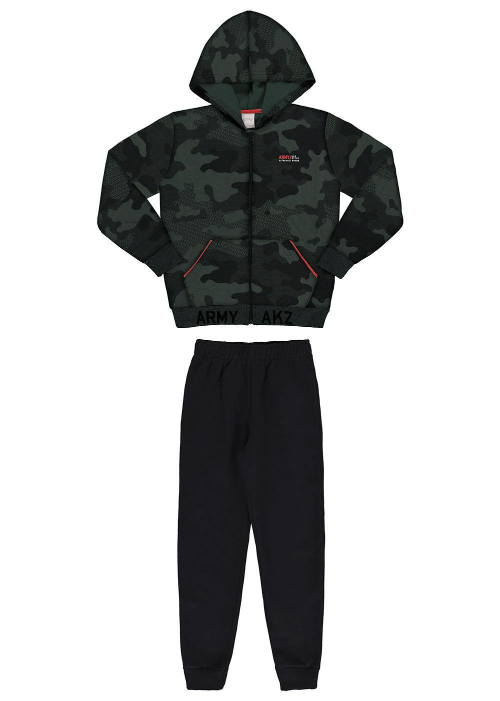 Conjunto Infantil Masculino Verde Camuflado Inverno Alakazoo