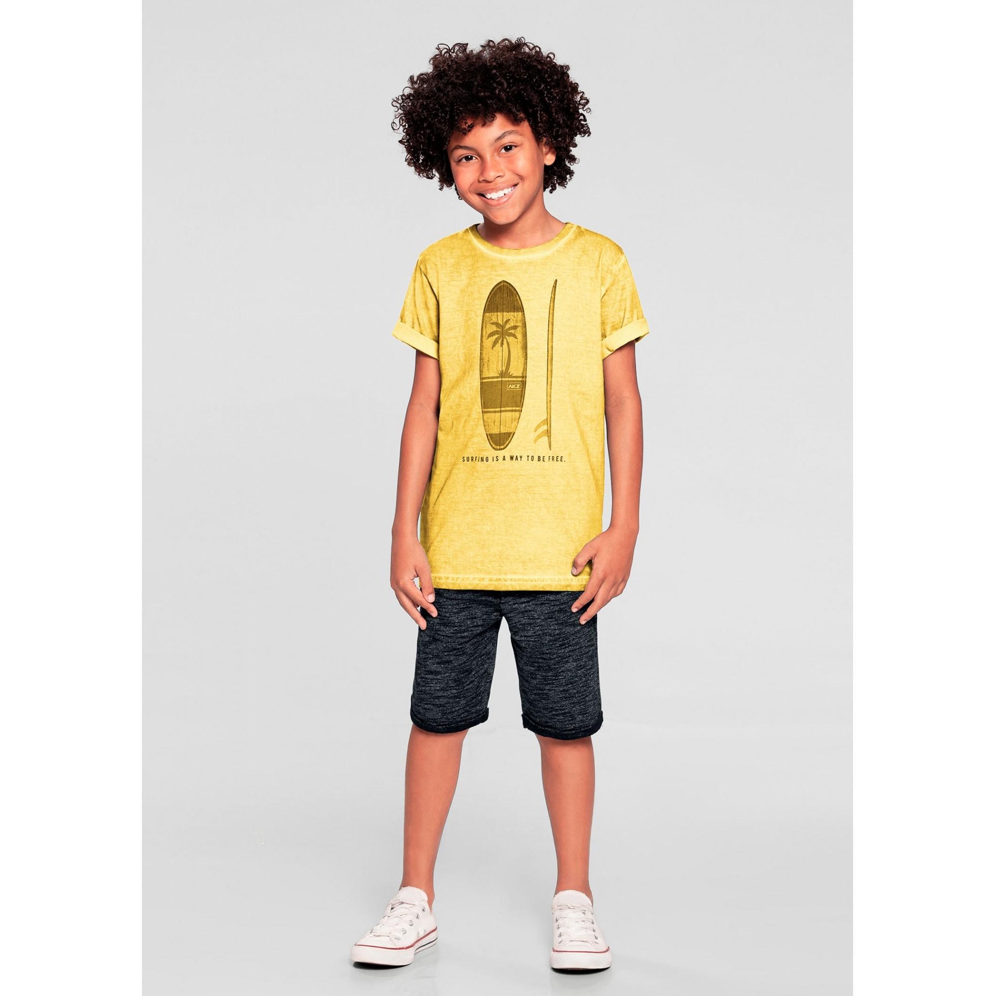 Conjunto Infantil Masculino Amarelo Surf Alakazzo
