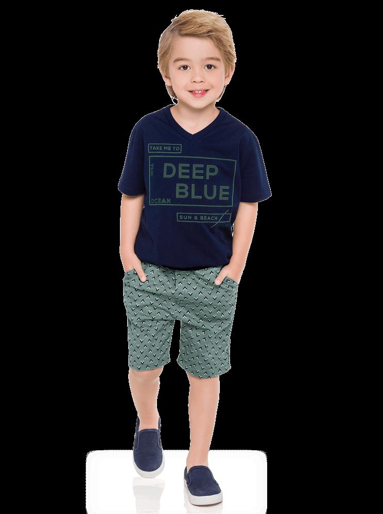 Conjunto Infantil Masculino Azul Marinho Deep Milon