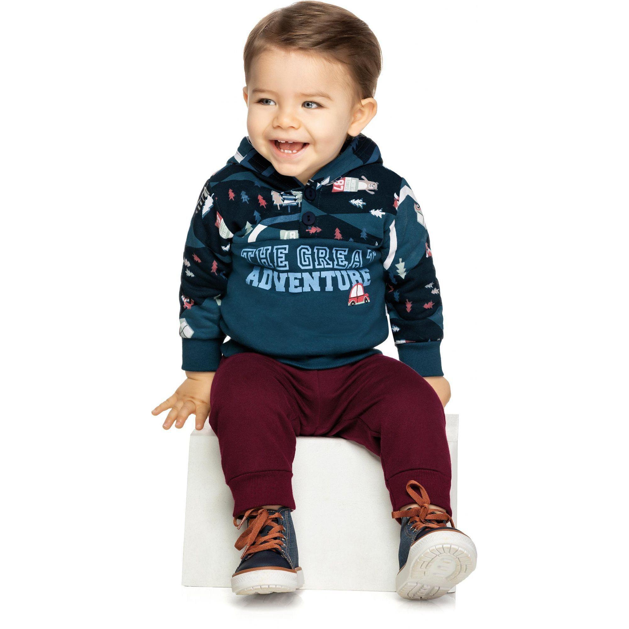 Conjunto Infantil Masculino Inverno Azul Adventure Elian