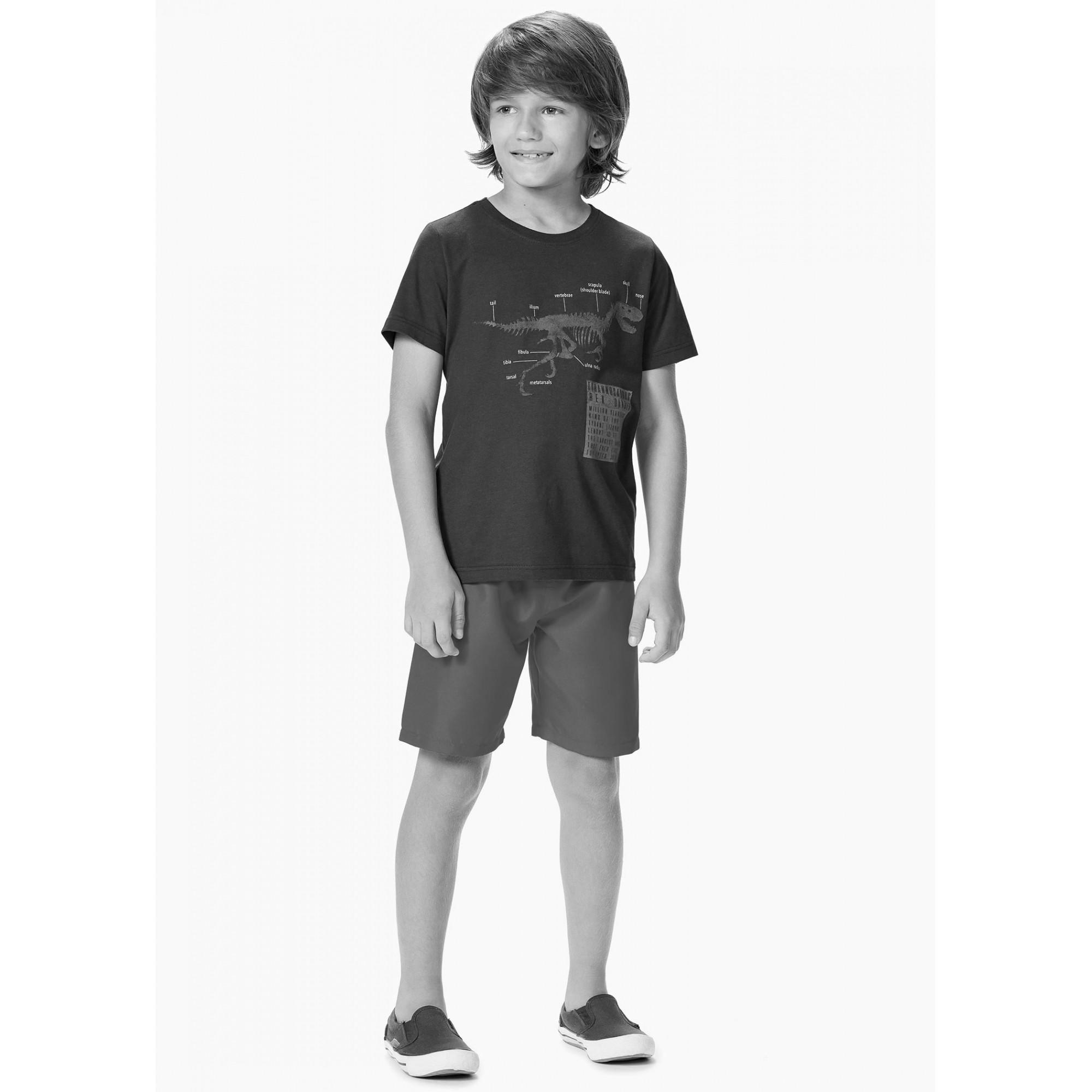 Conjunto Infantil Masculino Verão Cinza Always Malwee