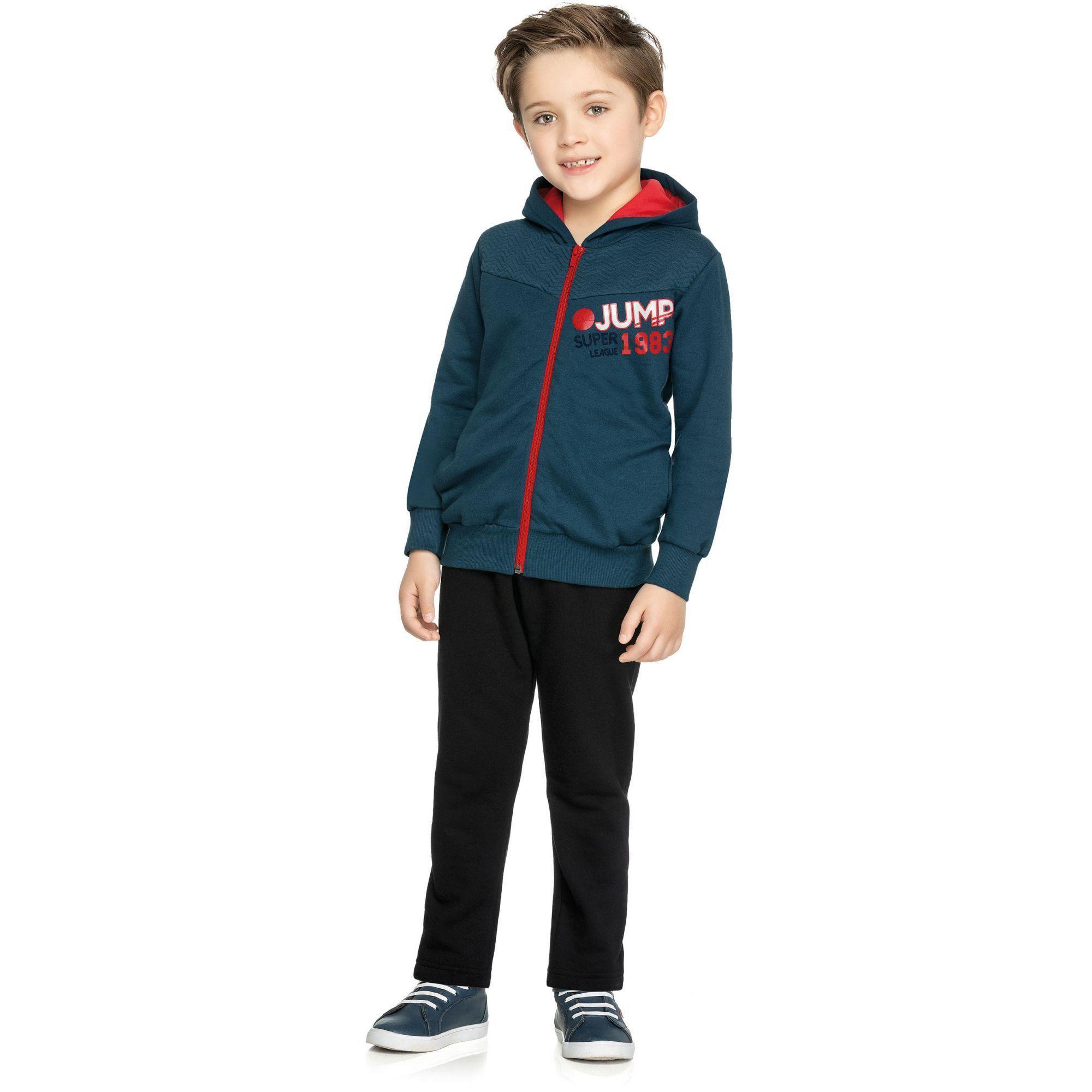 Conjunto Infantil Masculino Inverno Marinho Jump Elian
