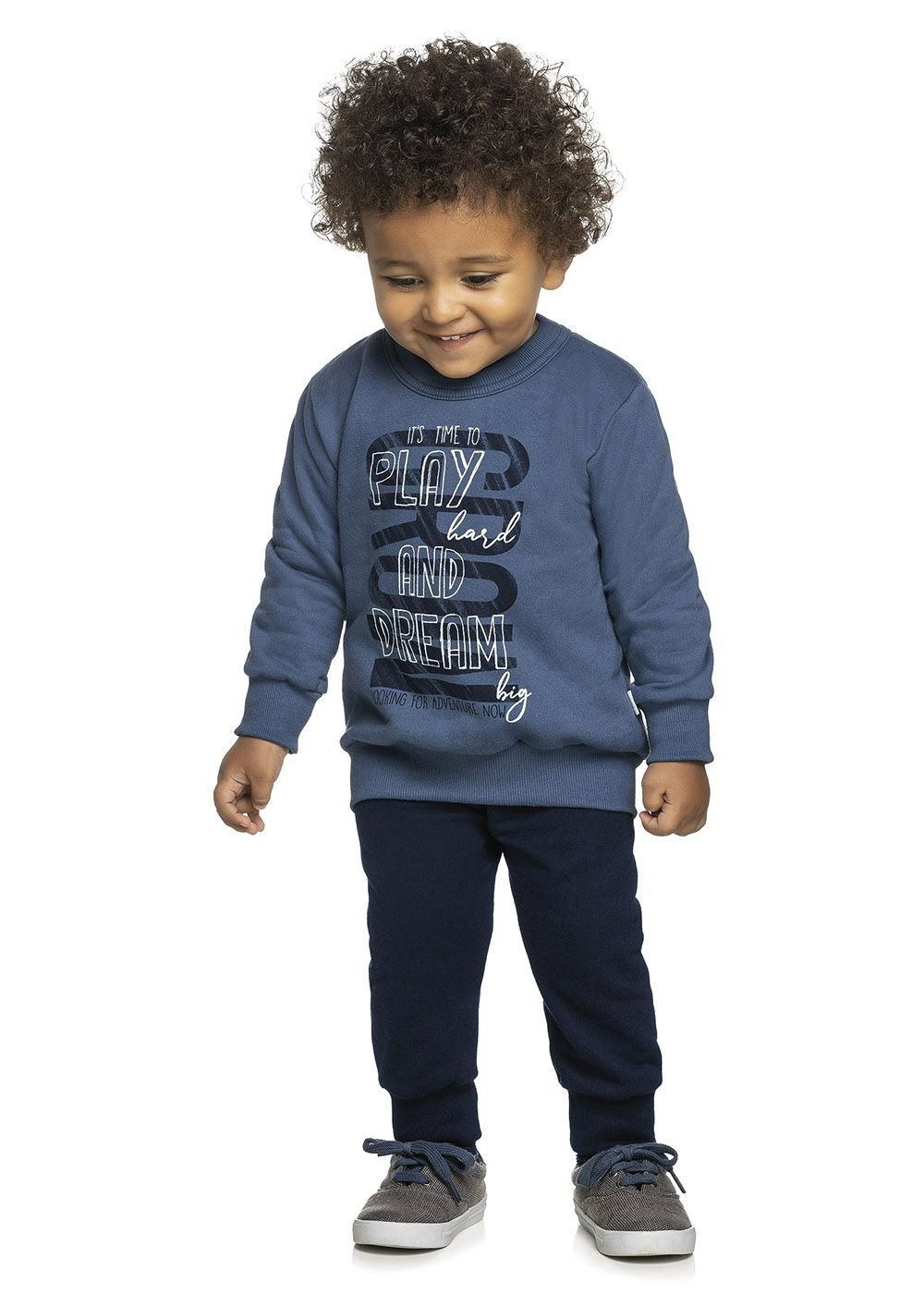 Conjunto Infantil Masculino Inverno Azul Play Elian