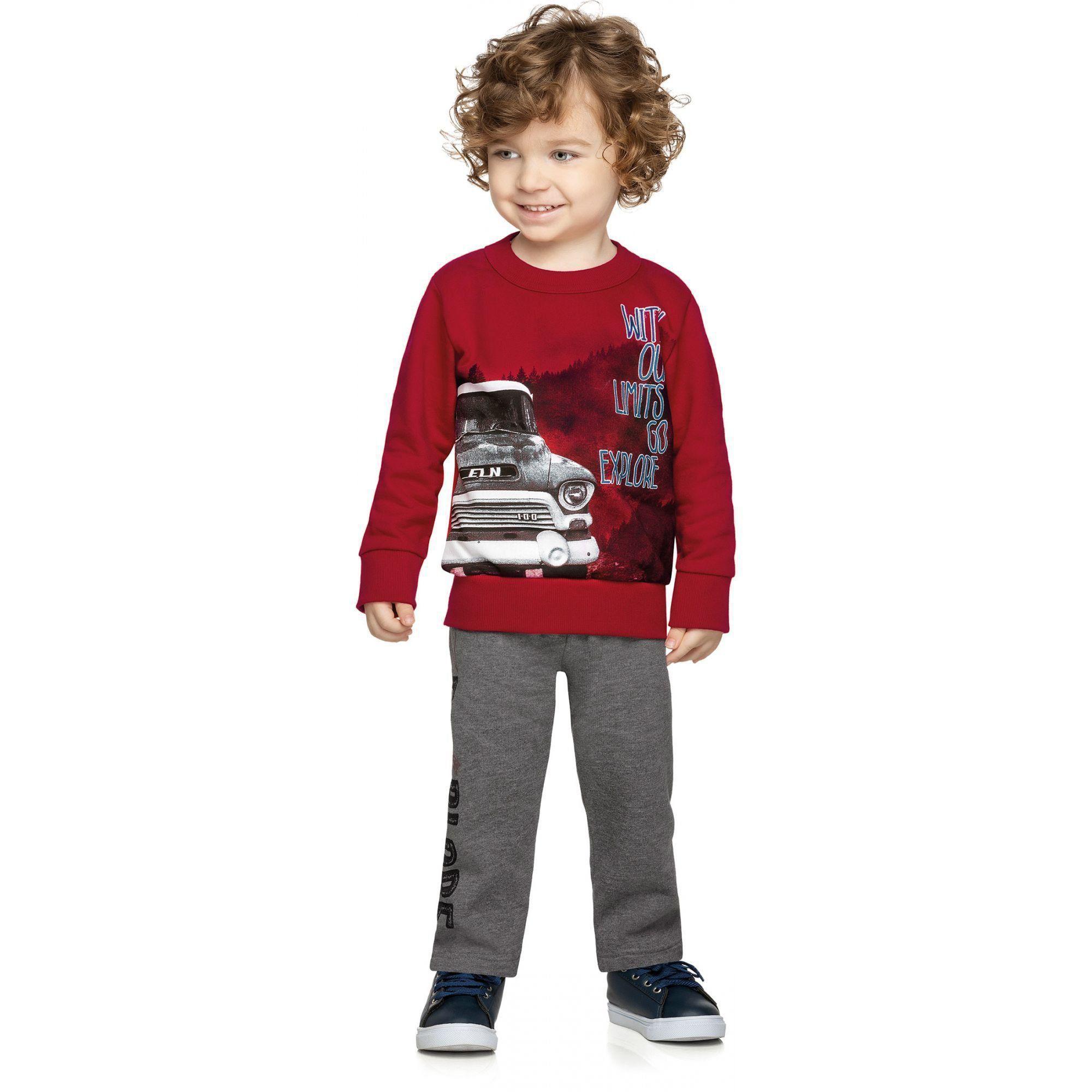 Conjunto Infantil Masculino Inverno Vermelho Explore Elian