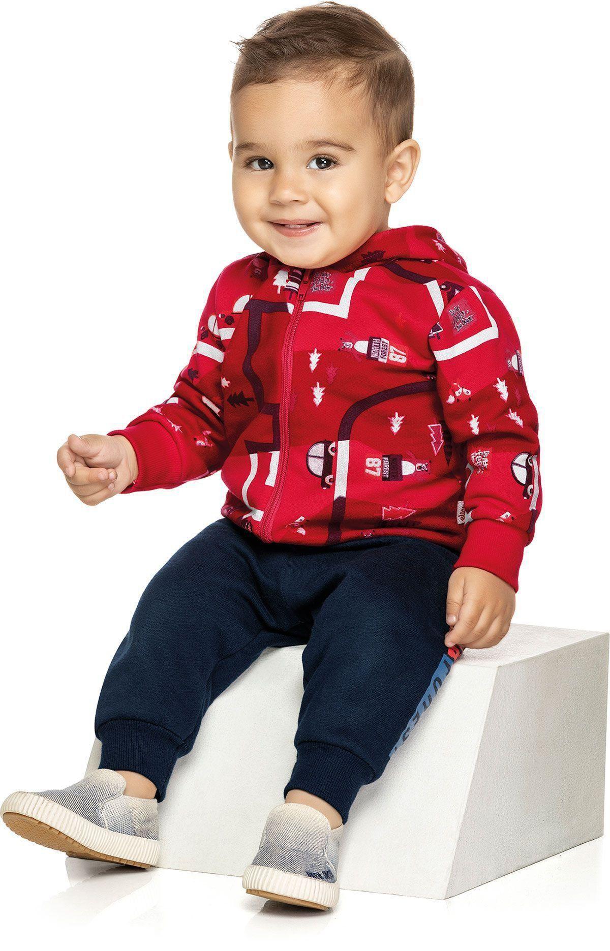 Conjunto Infantil Masculino Inverno Vermelho Forest Elian