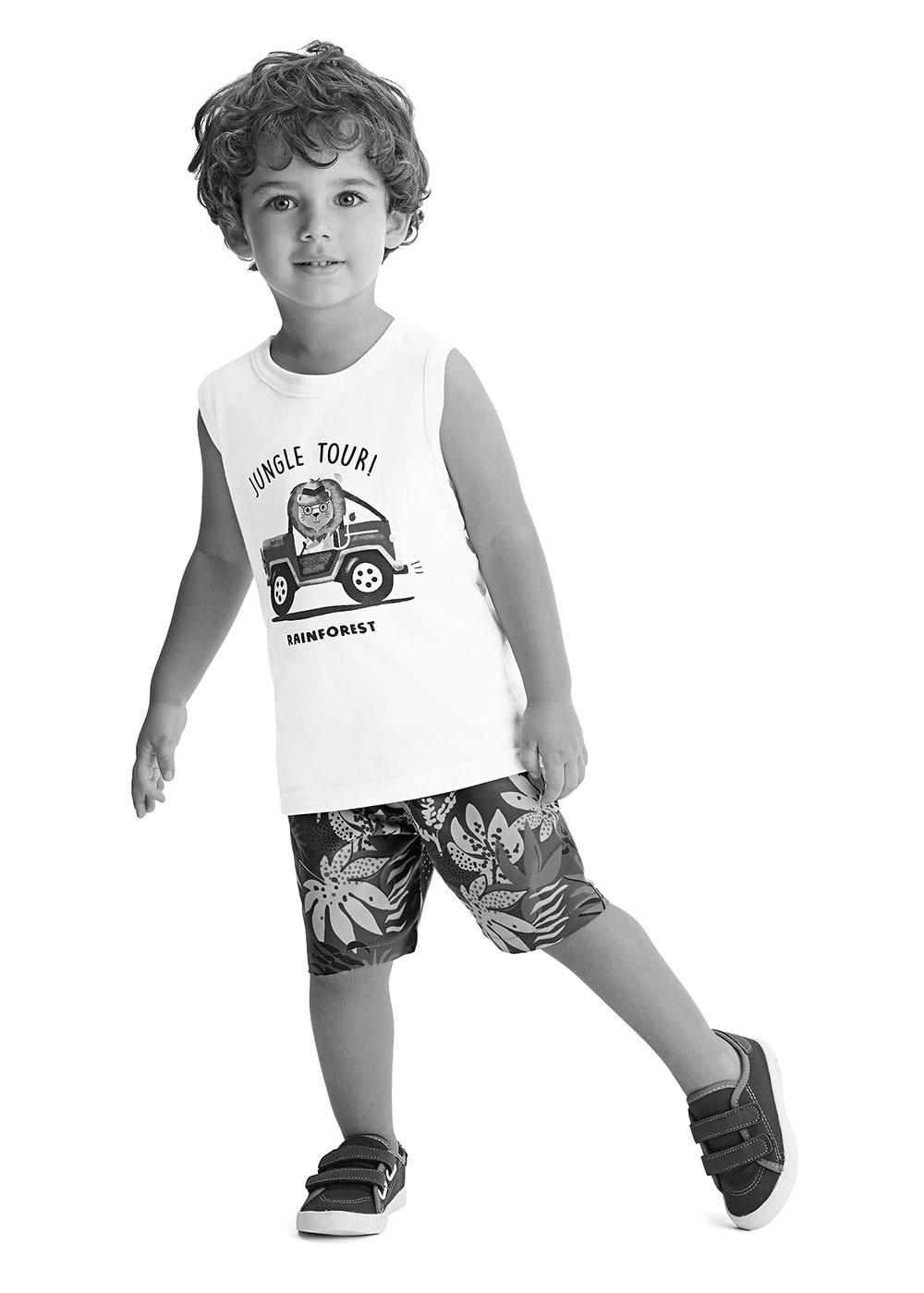 Conjunto Infantil Masculino Verão Cinza Discovering Malwee