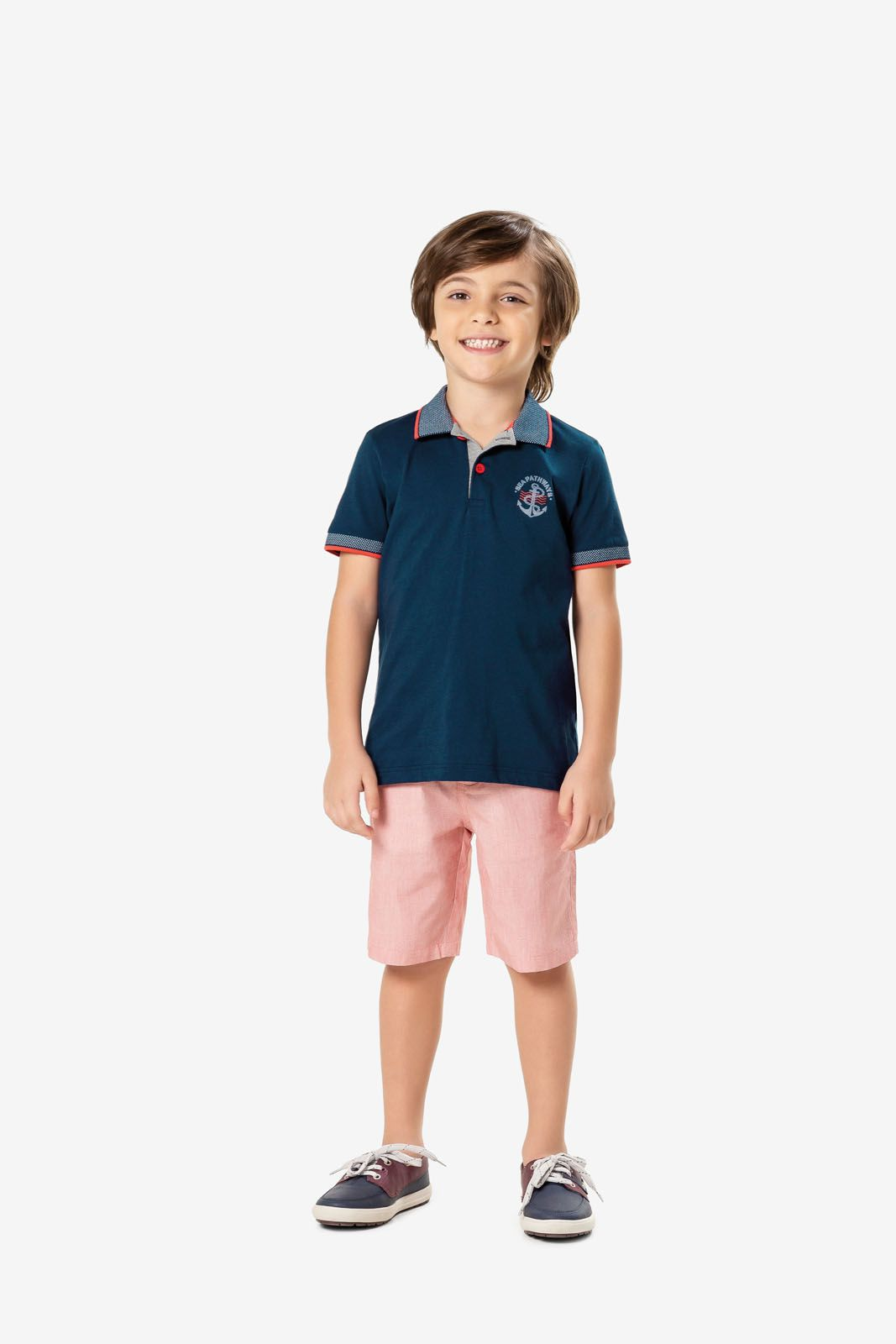 Conjunto Infantil Masculino Verão Marinho Âncora Malwee