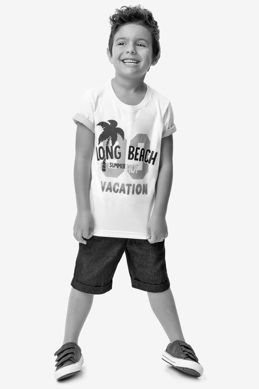 Conjunto Infantil Masculino Verão Marinho Beach Malwee