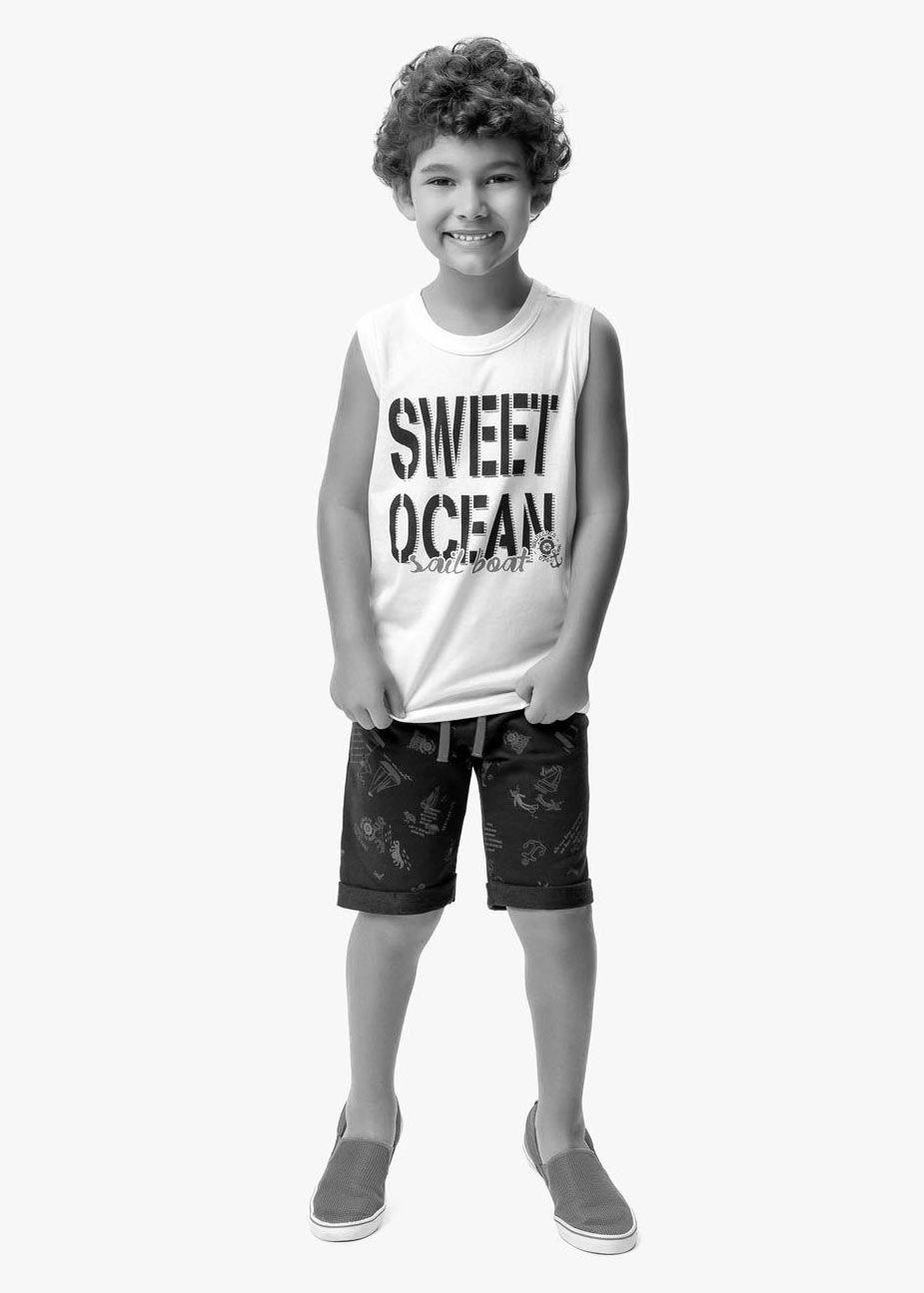 Conjunto Infantil Masculino Verão Marinho Sweet Malwee