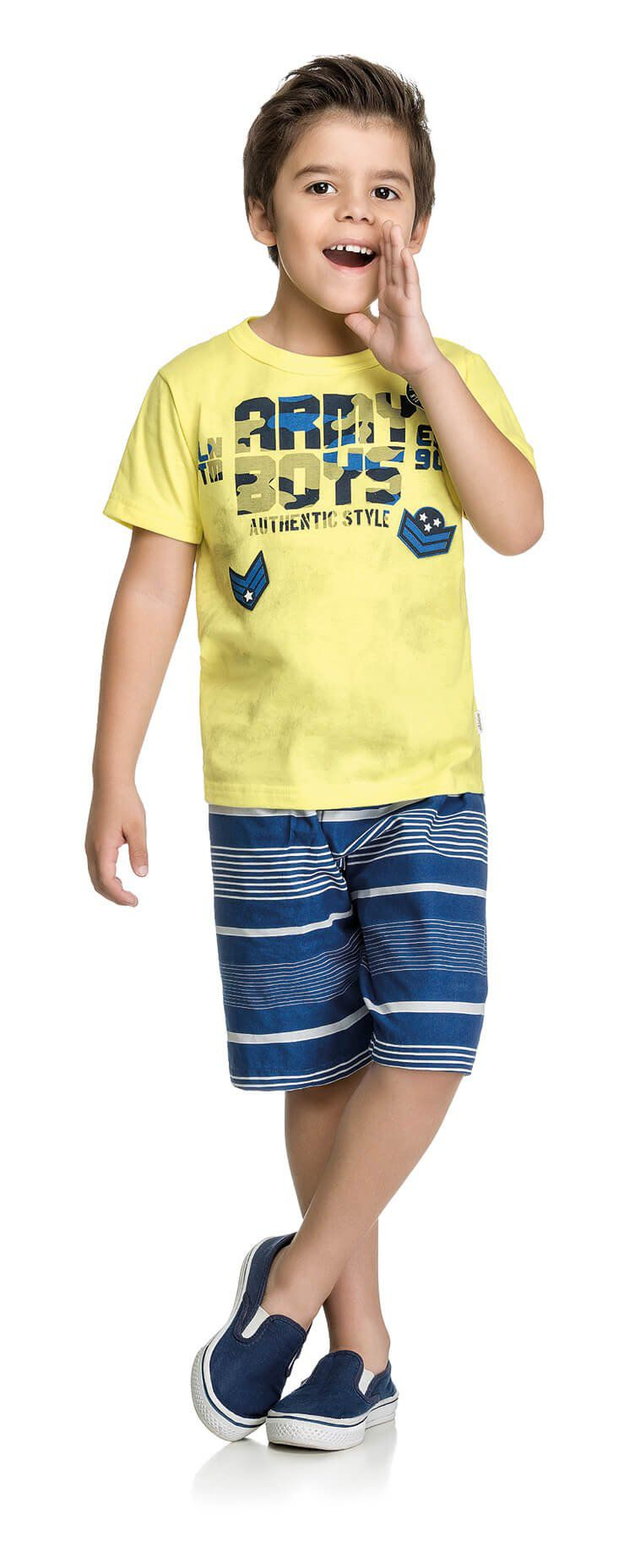 Conjunto Infantil Masculino Amarelo Army Boys Elian